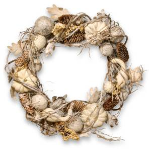 "20"" Pumpkin and Pinecone Wreath - National Tree Company"
