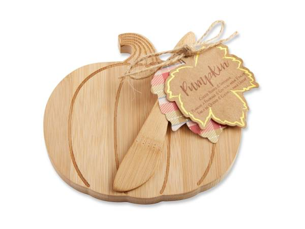 6ct Kate Aspen Brown Pumpkin Cheeseboard