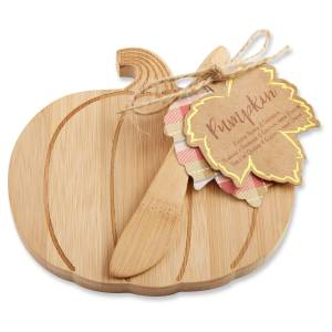 6ct Kate Aspen Brown Pumpkin Cheeseboard