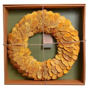 Dried Mushroom Wreath - Yellow - Smith & Hawken