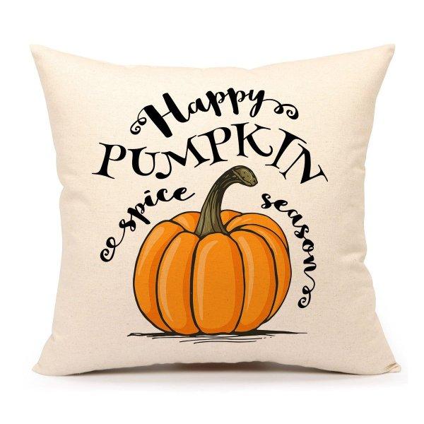 Happy Pumpkin Spice Thanksgiving Throw Pillow