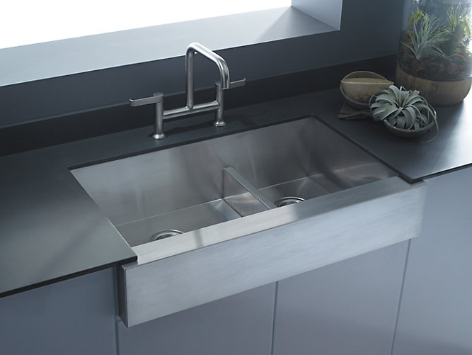 Elegant Kohler Sink K 3945 NA Vault Installed