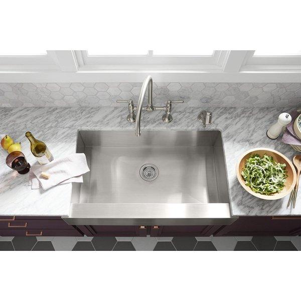 Kohler sink K 3943 Vault installed - Kohler Sink K-3943-NA Vault - Single Bowl