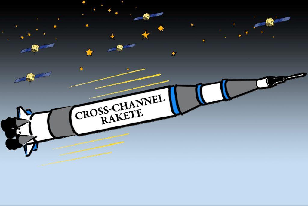 Après un retour à l'époque actuelle, nous avons de nouveau pris le chemin de l'avenir. Pas dans la DeLorean, mais dans la fusée cross-canal.