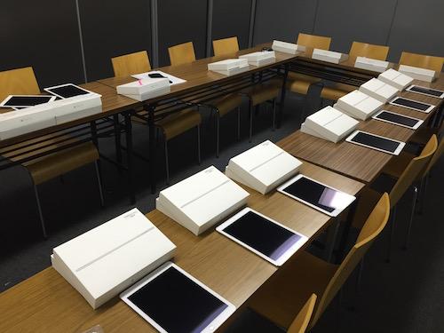 iPadの設定作業