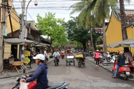 Busy streets of Hoi An.