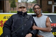 Tony, on the right, has lived in the Lathrop Homes for over 30 years.