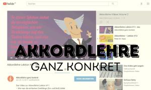 """YouTube Videos zum Buch """"Akkordlehre ganz konkret"""" von Peter M. Haas"""