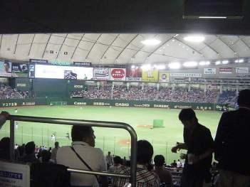 東京ドーム、内野席ウラからの景色