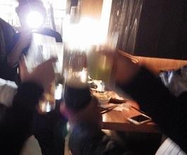 ハマスタ開幕戦、勝利の祝杯!