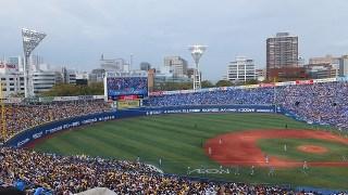 満員御礼の横浜スタジアム!チームは最下位でもスタンドは熱い
