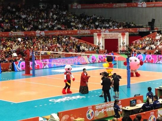 東京体育館の雰囲気:オリンピック最終予選!