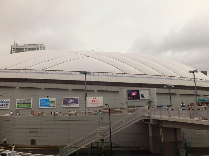 東京ドームが見えてきた!最寄り都営大江戸線春日駅を出てすぐ