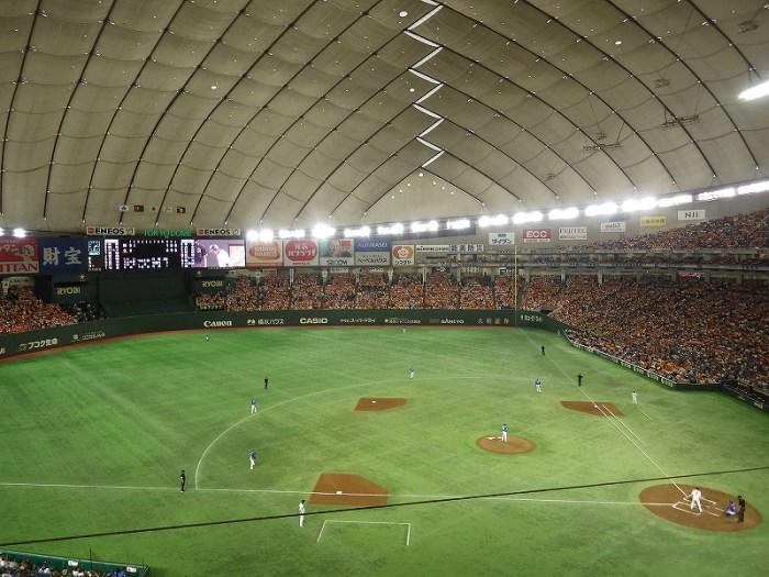 東京ドーム2階FC席3塁側からの眺め、景色