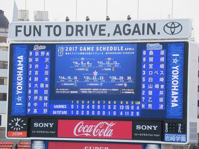 試合は負け:2017オープン戦:横浜DeNA対千葉ロッテ