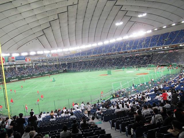 内野席B景色:WBC2017東京ドーム観戦記