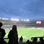 2階からの眺め。東京スタジアムはでかい!綺麗!