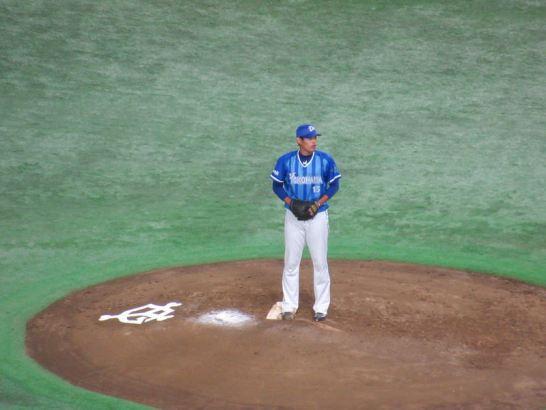 先発は井納投手:横浜DeNAベイスターズ