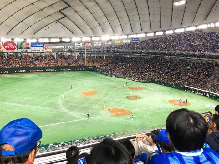 東京ドーム2階席指定FCからの景色・眺め
