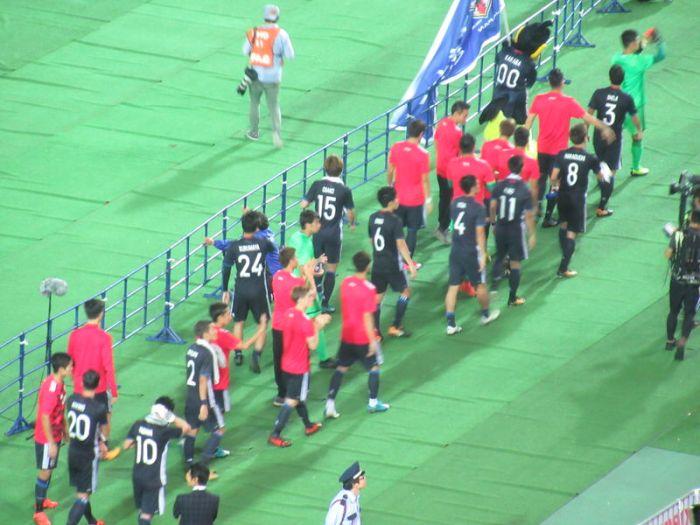 サッカー日本代表が最後挨拶