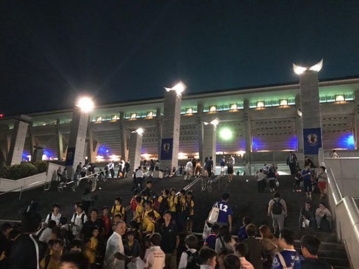 日産スタジアム!サッカー日本代表戦を観に行った