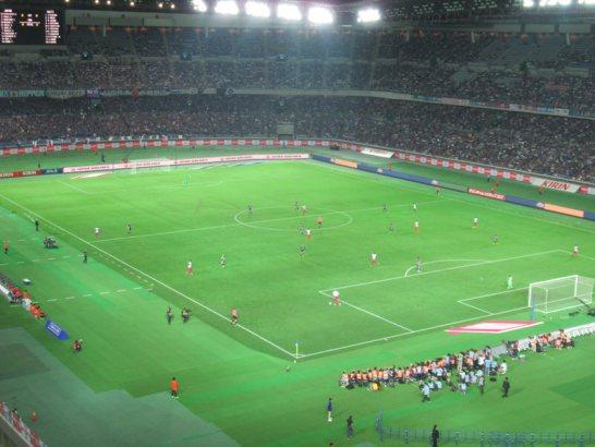 日産スタジアム・自由席から日本代表戦