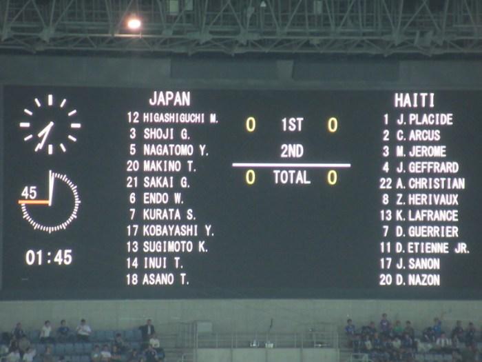 日本代表VSハイチ代表のスタメン
