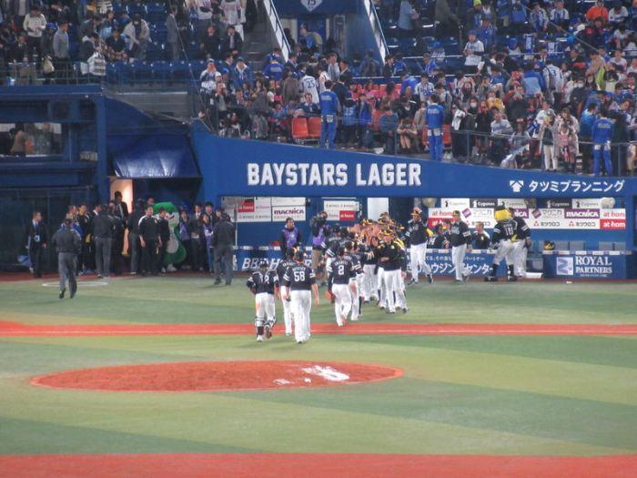 ソフトバンクの勝利:日本シリーズ第3戦!横浜スタジアム