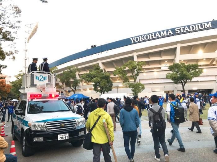 警察も出てくる厳戒態勢!2017年横浜スタジアム日本シリーズ第3戦