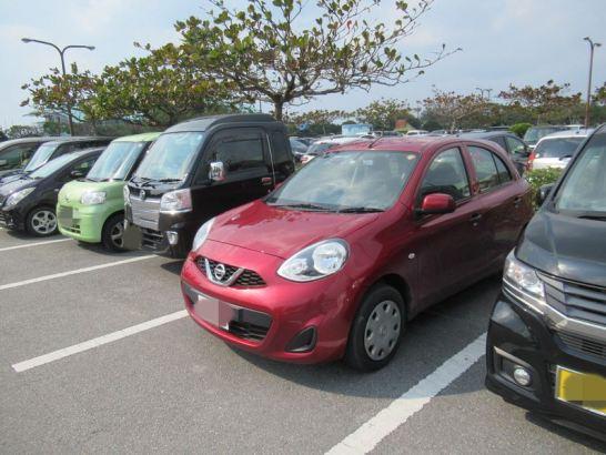 レンタカーで借りた車:沖縄