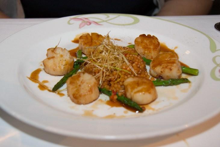 Caramelized sea scallops