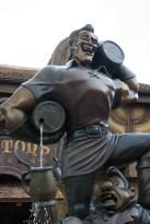 Gaston and Lefou bronze statue