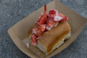 Lobster roll from Hops & Barley