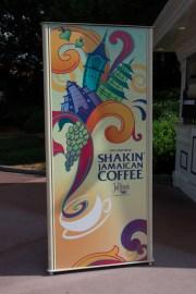 Shakin' Jamaican coffee sign