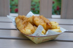 Fish and chips from the Yorkshire County Fish Shop