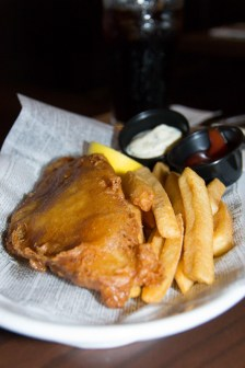 Fish and chips from the Rose and Crown Pub