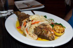 Traditional Whole Fish from Cat Cora's Kouzzina at The Boardwalk