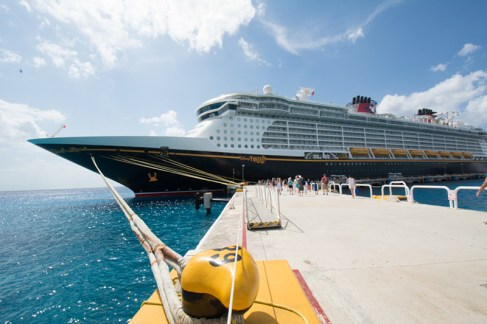 Disney Fantasy docked in Cozumel