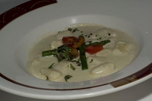 Gnocchi in gorgonzola sauce