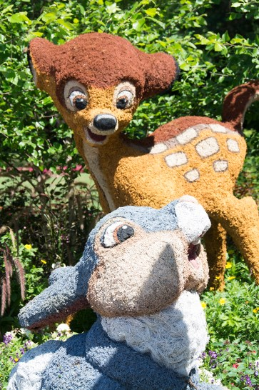 Bambi and Thumper topiaries