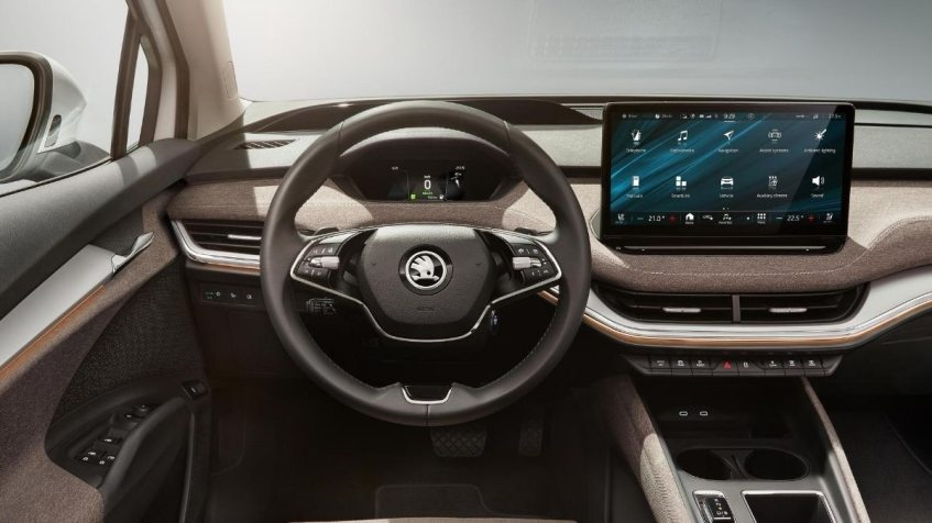 Skoda Enyaq iV electric interi