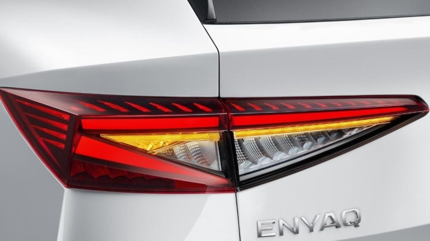 Skoda Enyaq iV electric tail l