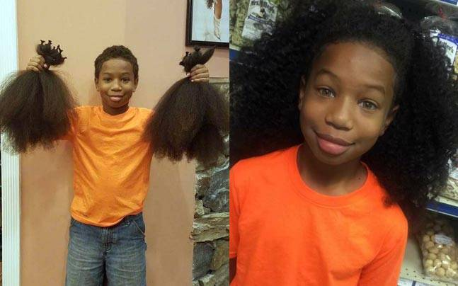 A 10 Year Old Boy Grew His Hair For 2 Years So A Little