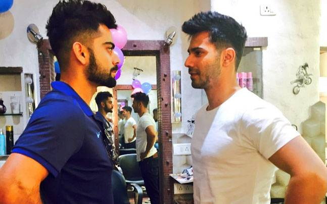 SEE PIC Varun Copies Virat Kohlis Hairstyle For