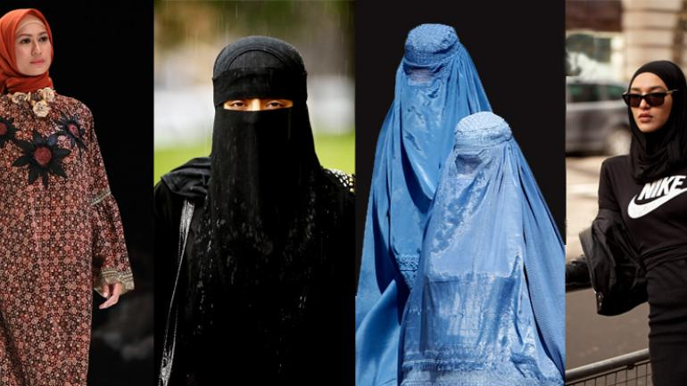 A loose garment (usually with veiled holes for the eyes) worn by muslim women especially in india and pakistan; Countries That Ban Burqa And Other Face Covering Veils An Interactive Map World News