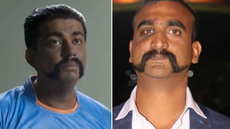 Screenshot from video posted on Twitter (L) and file photo of Abhinandan (R).