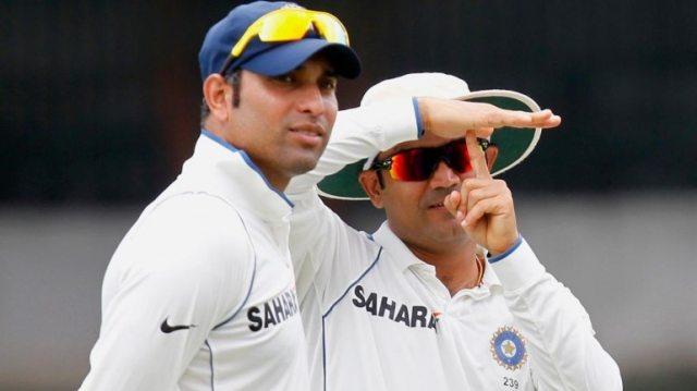 VVS Laxman with Virender Sehwag. (Reuters File Photo)