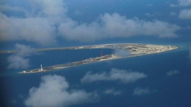 An aerial view of China occupied Subi Reef at Spratly Islands in disputed South China Sea April 21, 2017. (Photo: Reuters)