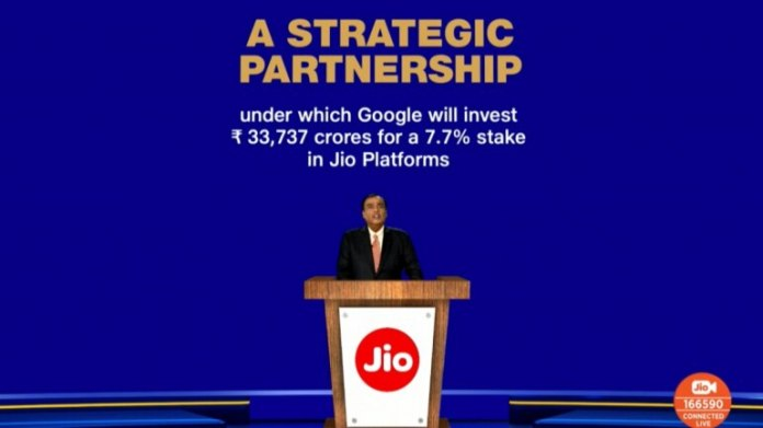 Reliance AGM: Google to invest Rs 33,737 crore in Jio for 7.7 per ...