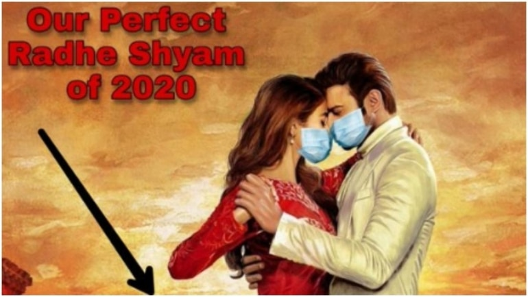 Prabhas and Pooja Hegde wear face masks in Assam Police's photoshopped Radhe Shyam poster